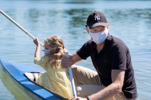 HeiQ Medica padre e hija mascarillas